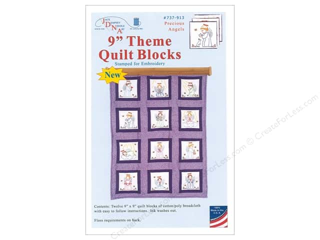 Jack Dempsey 9 Quilt Blocks Precious Angel 12pc Createforless