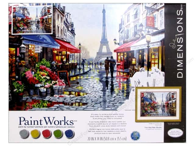 Dimensions Paint By Number 20x16 Paris Flower Shop Createforless