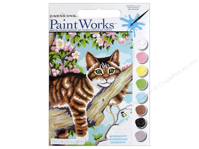 Dimensions Paint By Number 9x12 Lazy Cat Createforless