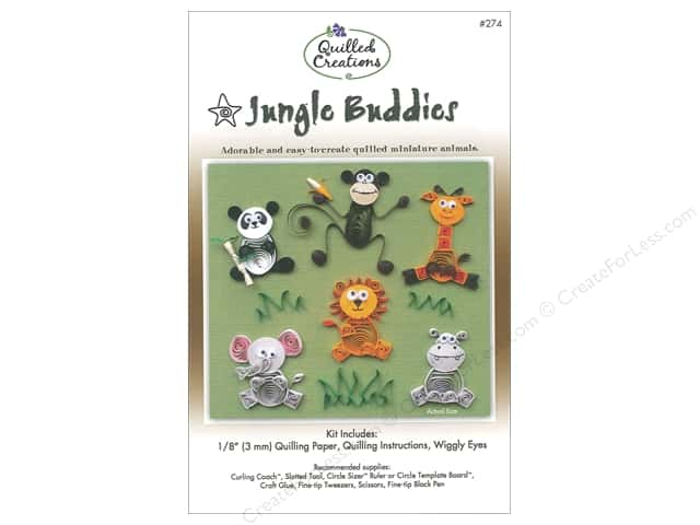 Quilled Creations Jungle Buddies Quilling Kit Createforless