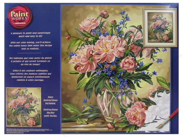 Dimensions Paint By Number 16x20 Peony Floral Createforless
