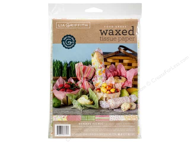 Werola lgriffith tisueppr waxed summer picnic 24pc createforless werola lia griffith tissue paper waxed summer picnic 24 pc mightylinksfo