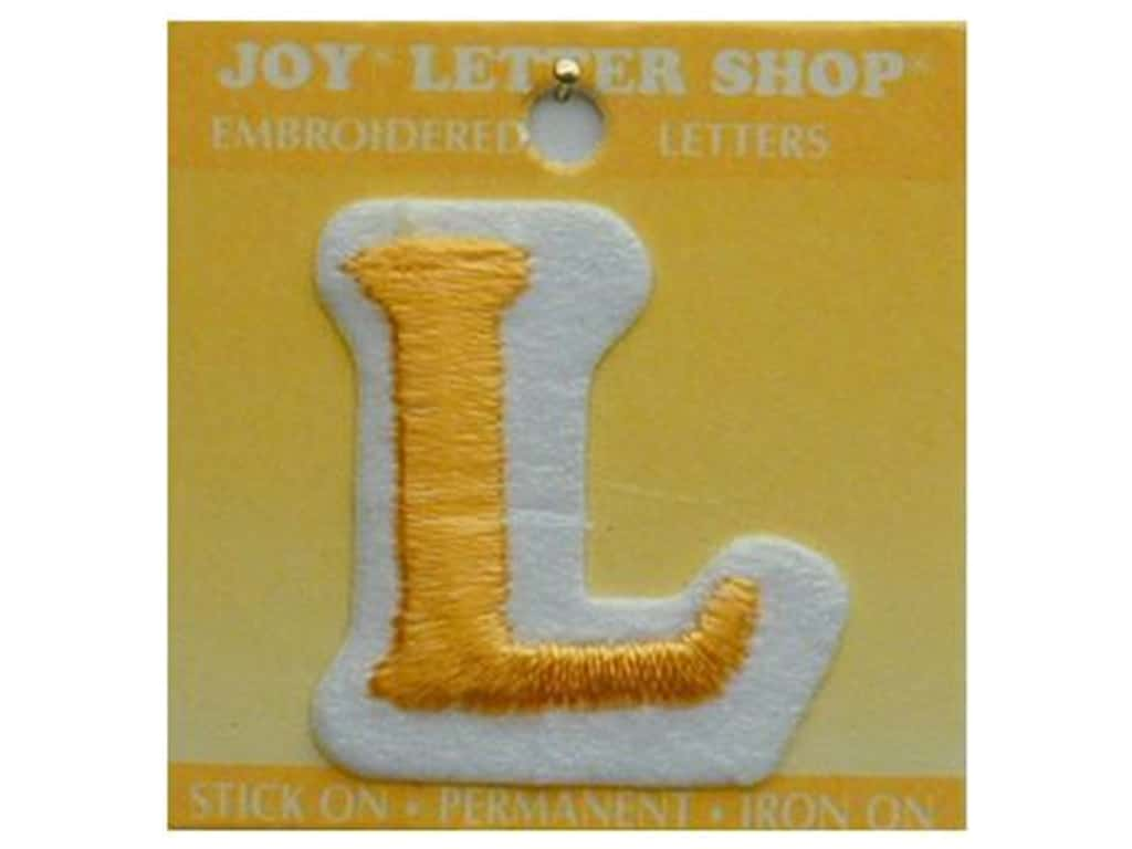 Iron On Letter L Embroidered 1 1 2 In Gold Createforless