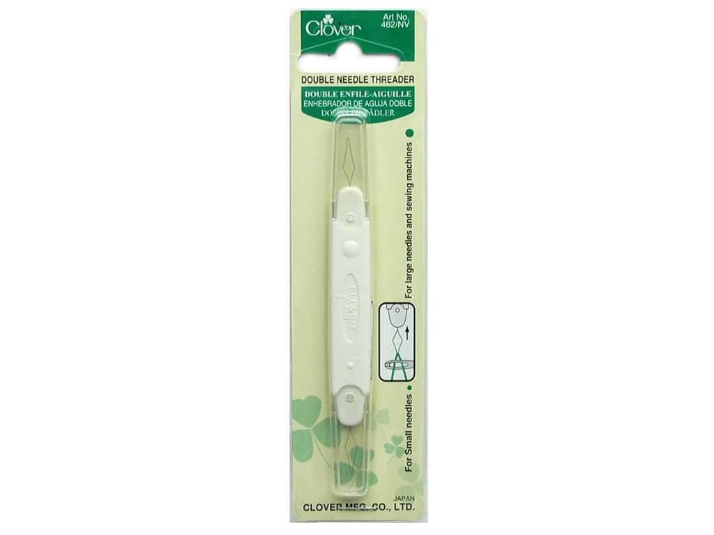 Clover 462//NV Double Needle Threader Sewing Large or Small Eye NEW