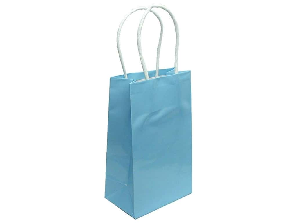 Small Gift Bag By Cindus Clay Coat Baby Blue 1