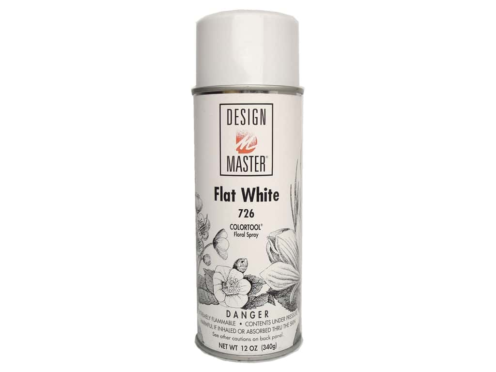 Design Master Colortool Spray Paint Flat White 12 Oz Createforless