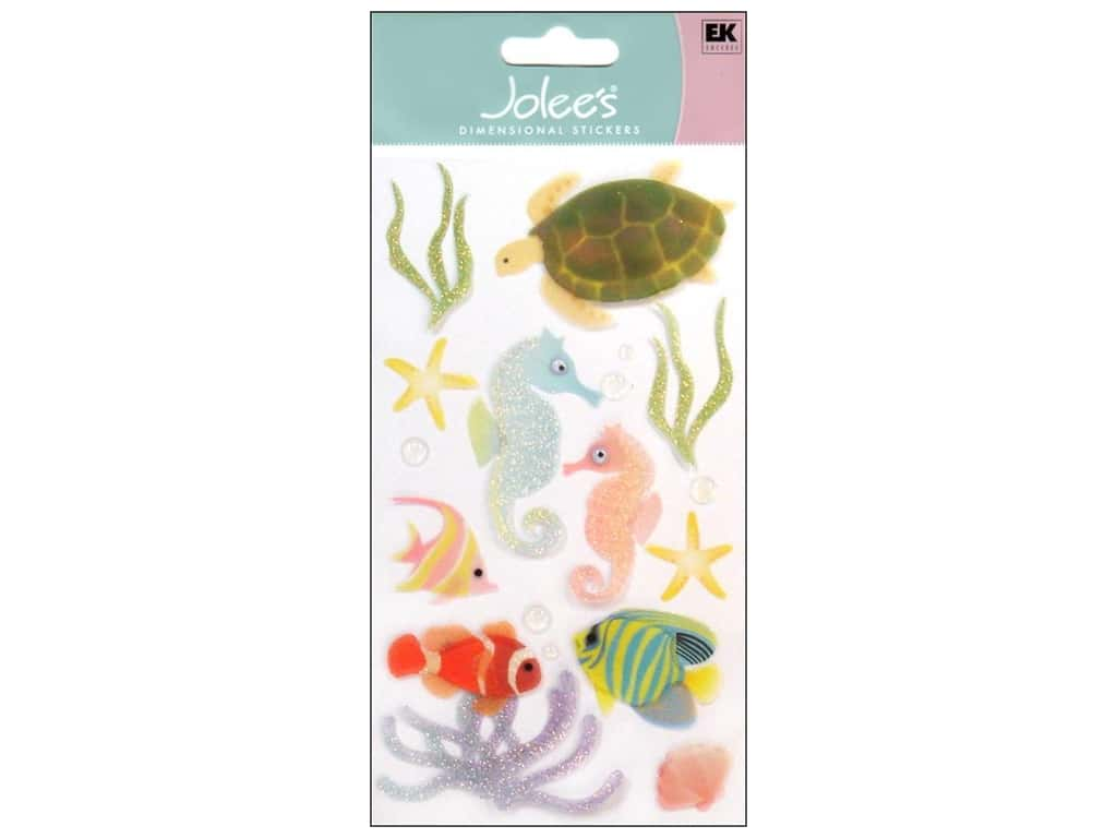 JOLEES BY YOU TROPICAL FISH /& SEAWEED SCRAP BOOKING STICKERS