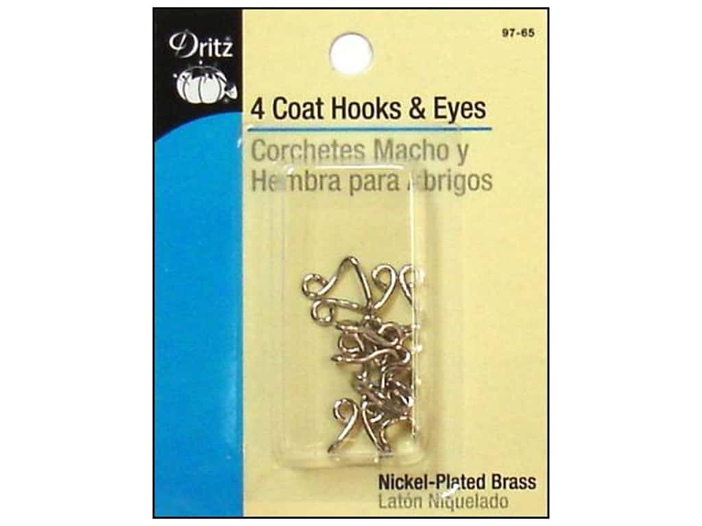 DRITZ 4 Coat Hooks /& Eyes