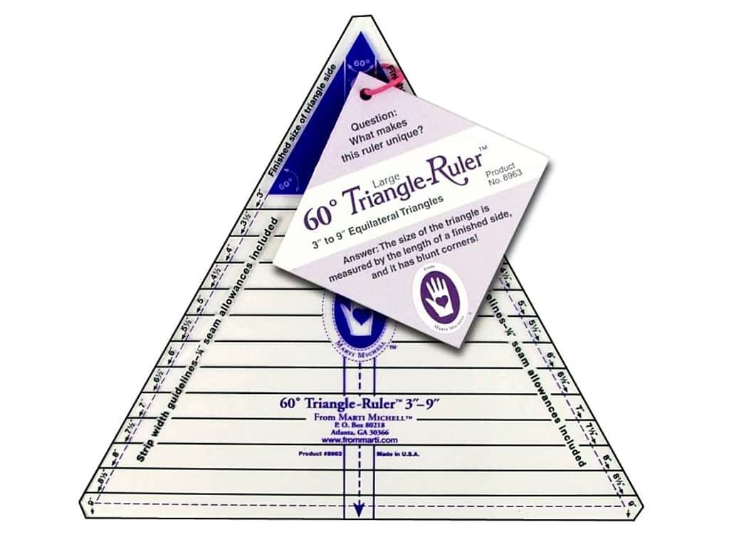 Marti Michell 3-Inch-to-9-Inch 60 Degree Triangle Ruler