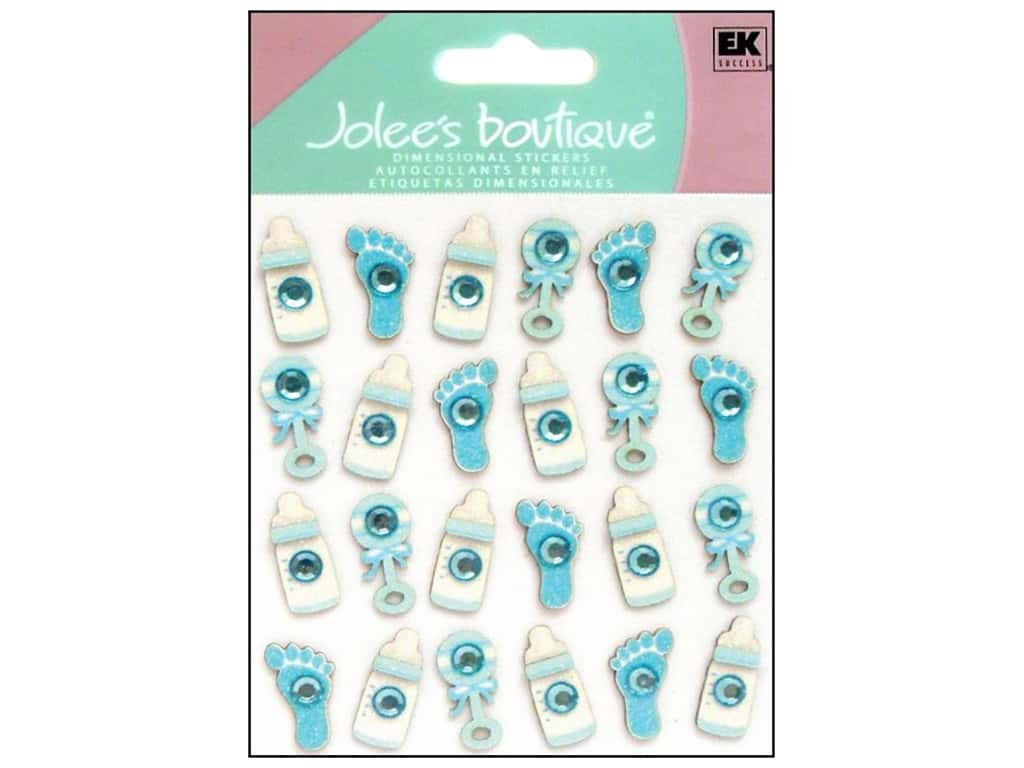 JOLEE/'S BOUTIQUE STICKERS BABY BOY ICON REPEATS bottle footprints rattle