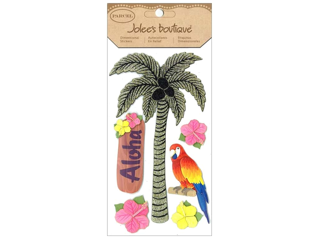 Choose from palm trees in various shades of green Stickers from Jolee/'s Boutique or pink,purple /& blue happy birthday designs!
