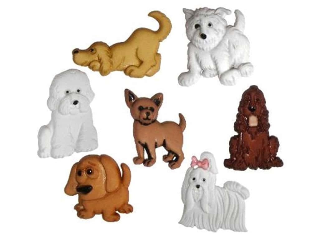 DRESS IT UP Buttons Puppy Parade 4674 Embellishments Dogs
