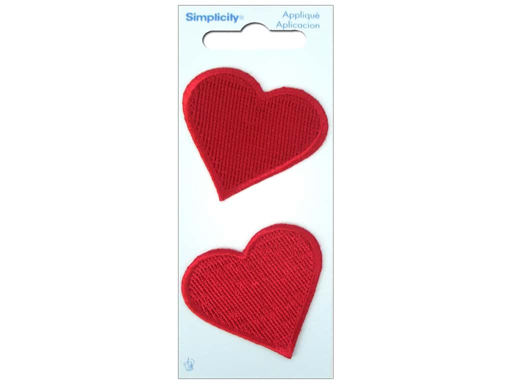 Simplicity applique large red heart createforless