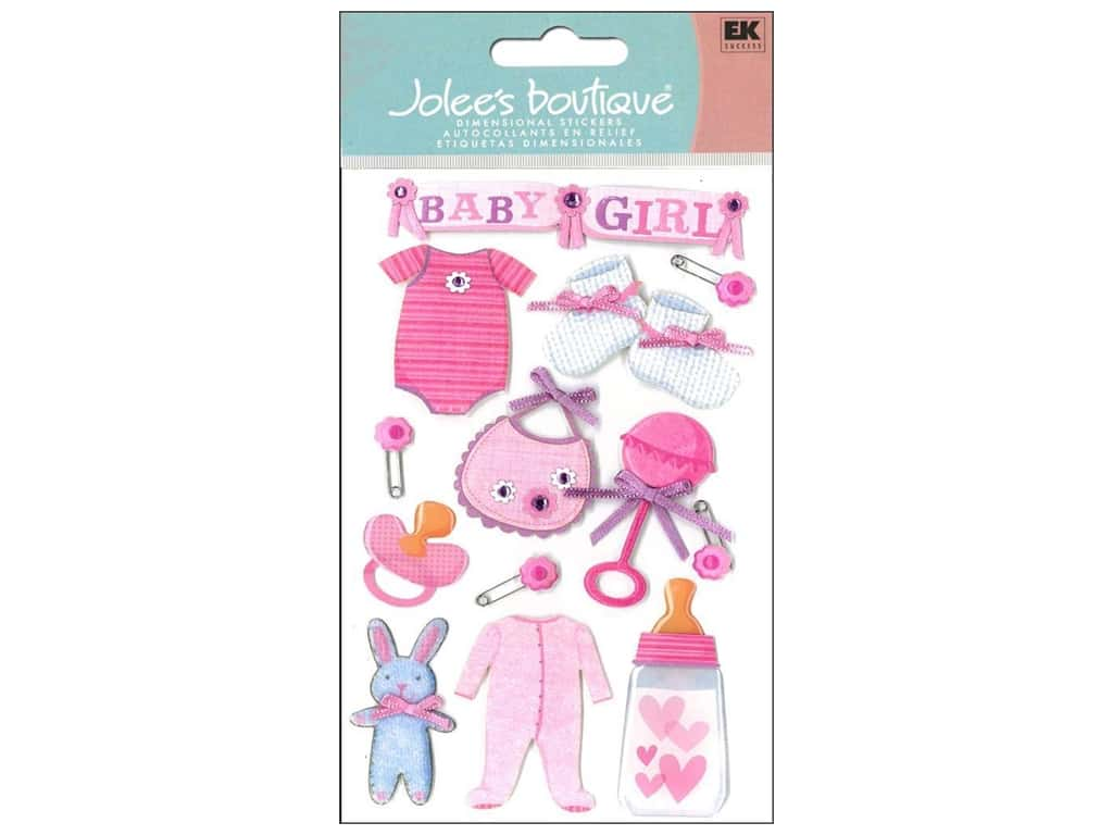 """Jolee/'s Baby Collection /""""Girl Quilts/"""" Dimensional Stickers"""