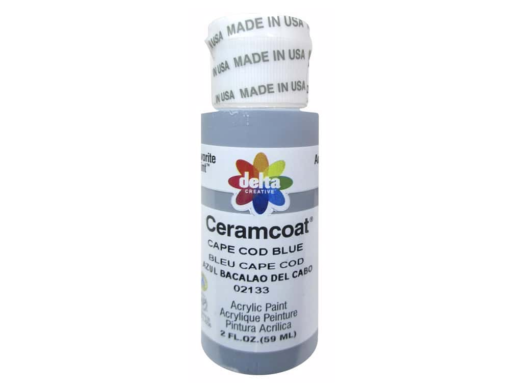 Ceramcoat Acrylic Paint By Delta 2 Oz 2133 Cape Cod Blue