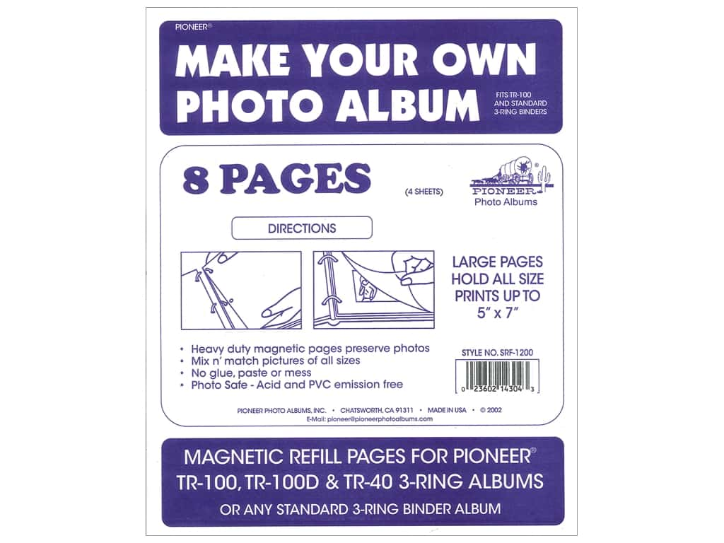 Pioneer Refill Page Magnetic Album Tr 100 4pc Createforless