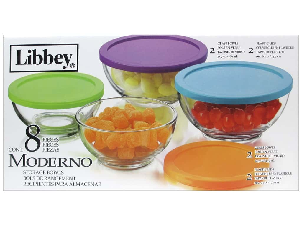 Crisa By Libbey Glass Moderno Bowl Set With Lids 1