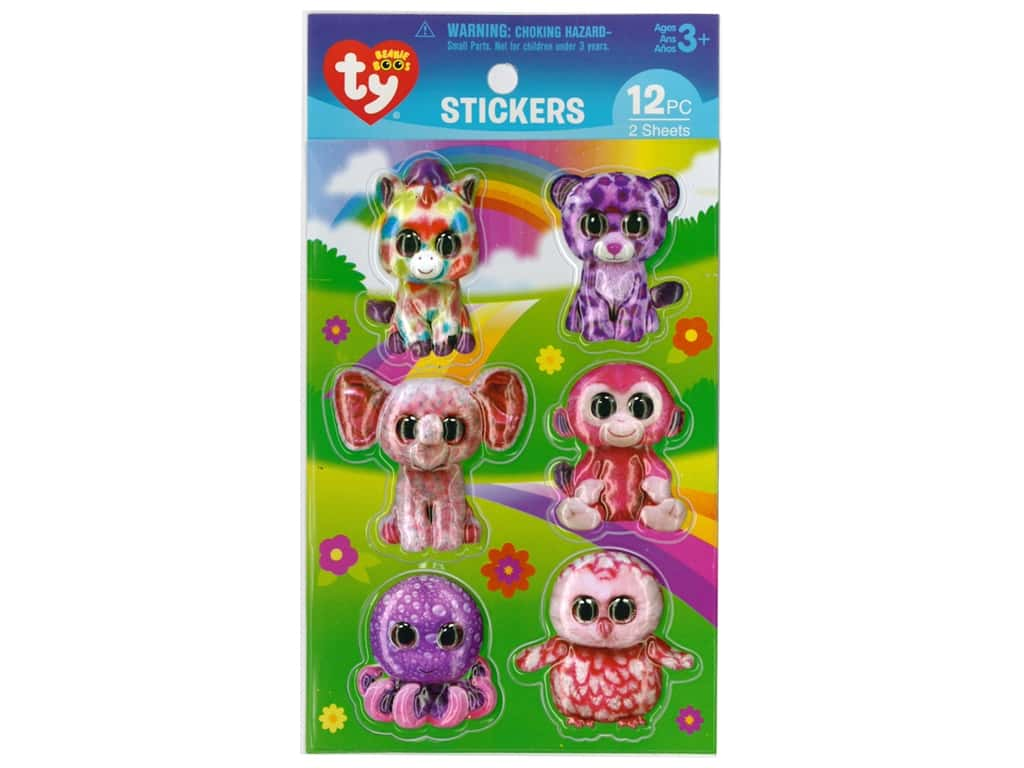 Darice Sticker Beanie Boo Girl 3D 12pc -- CreateForLess 0ce4a4a3d6a