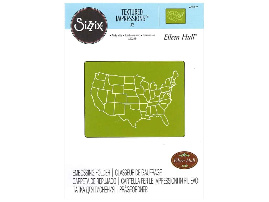 Sizzix Textured Impressions Embossing Folders 1 pc. United States Map on map button, map pen, map frame, map clock, map component, map layout, map brochure, map worksheet, map files, map data, map template, map bag, map graph,