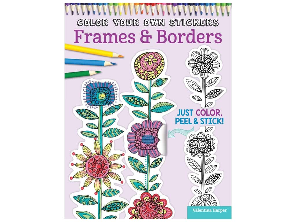 Color Your Own Stickers Frame Border Coloring Book Createforless
