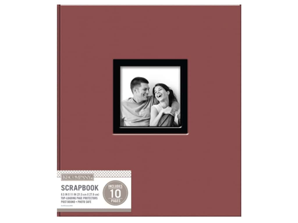 K Company 8 12 X 11 In Scrapbook Window Album Fabric Burgundy