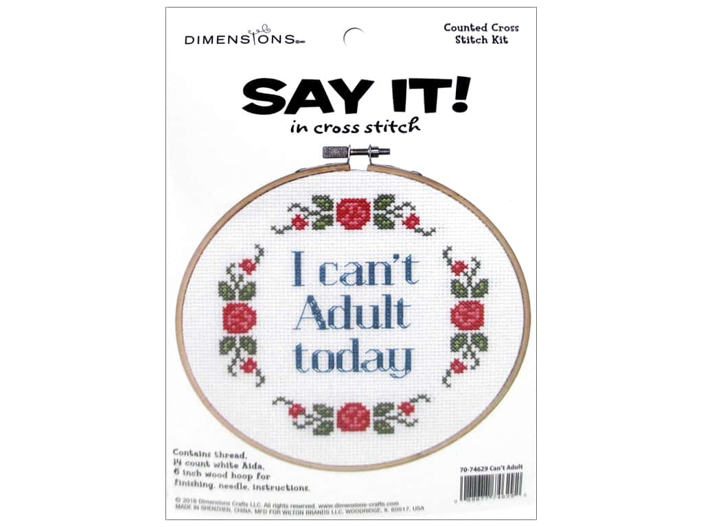 Dimensions Cross Stitch Kit Say It! Can't Adult 1