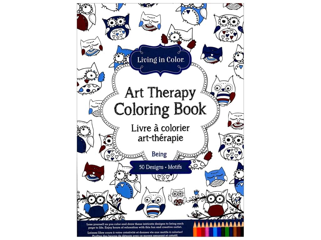Multicraft Living In Color Art Therapy Being Coloring Book 1