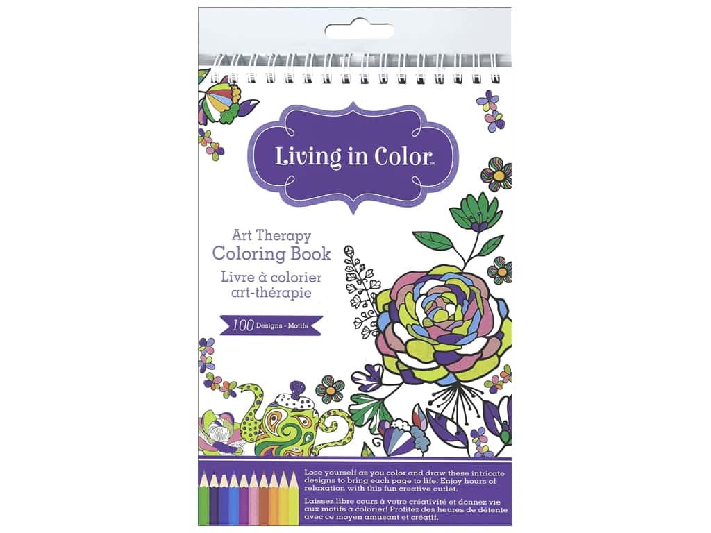 Living In Color Art Therapy Azteca Coloring Book Createforless