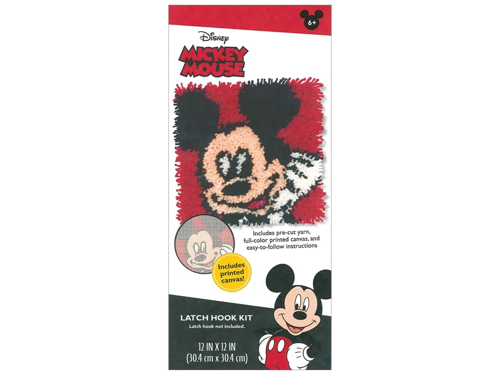 Dimensions Latch Hook Kit Disney Mickey