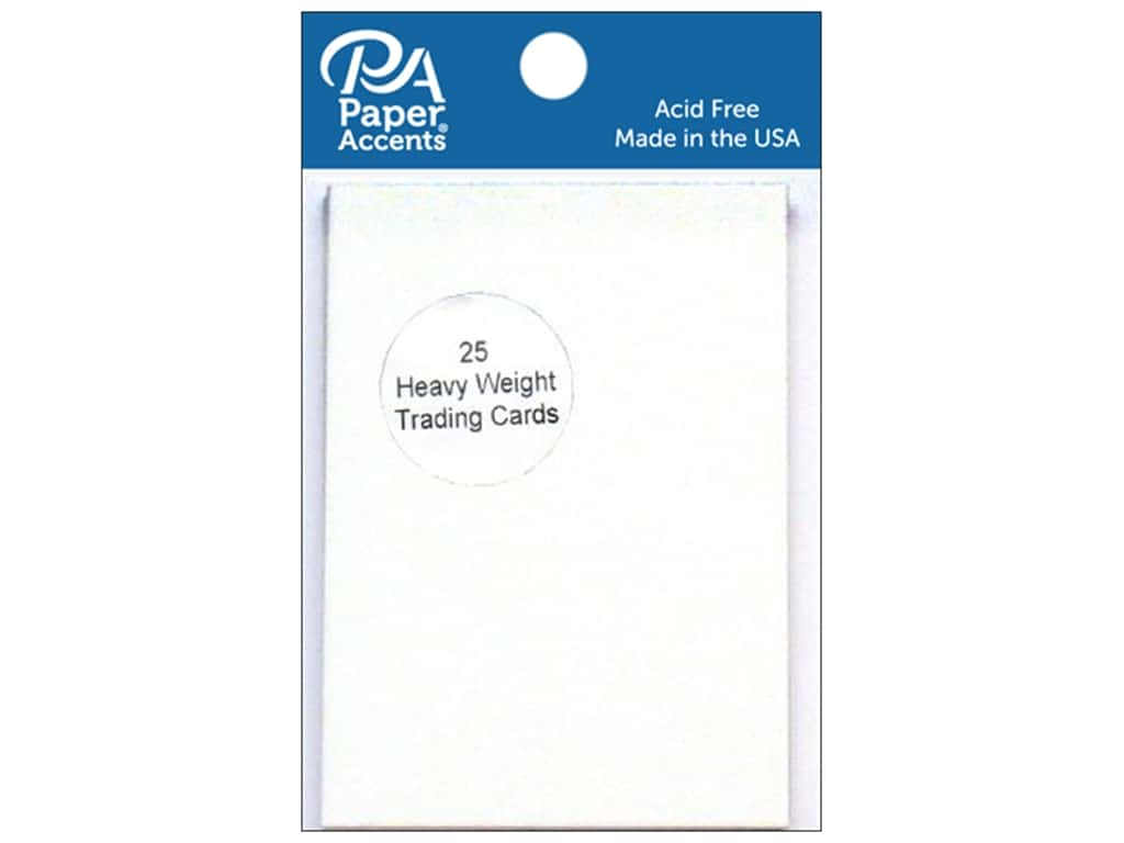 Paper Accent Trading Cards 2 1 2 X 3 1 2 In White 25 Pc 1