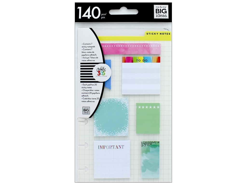 Me&My Big Ideas Happy Planner Sticky Notes Snap In Mini 1