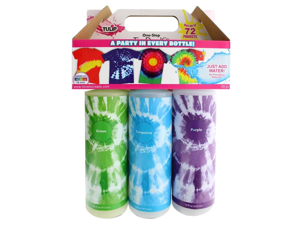 9c2afa65bf1a Tulip Kit One Step Tie Dye 16oz Party 6 Color -- CreateForLess