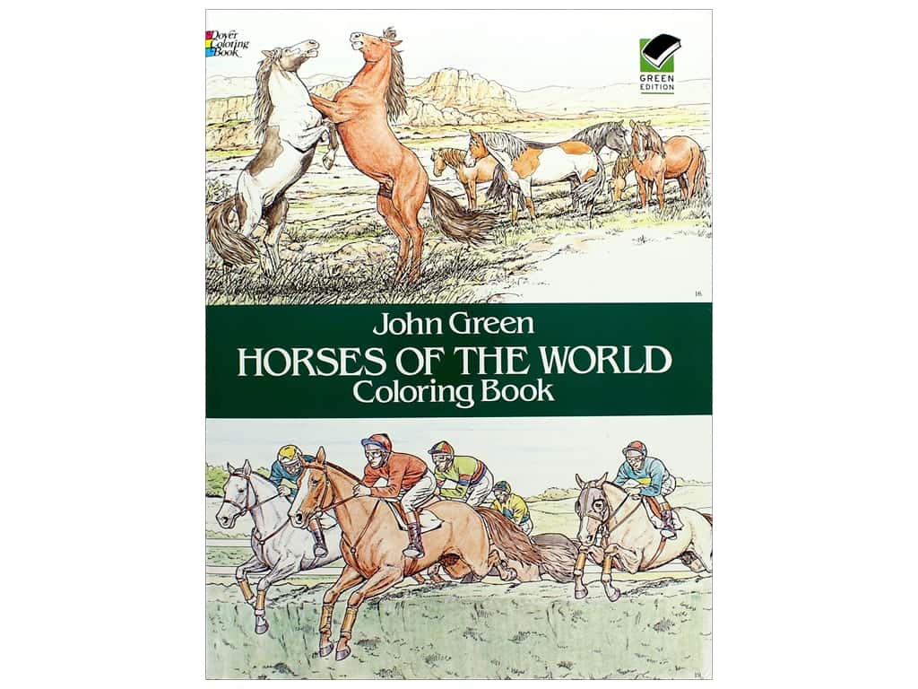 Horses Of The World Coloring Book -- CreateForLess