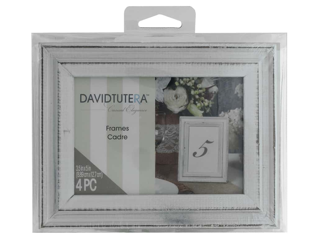 Darice Decor Frames 35x5 Whitewash 4pc Createforless