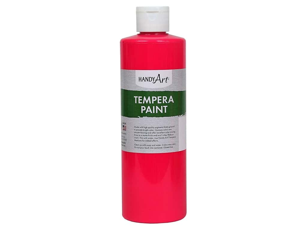 Handy Art Tempera Paint 16 oz. Fluorescent Hot Pink 1