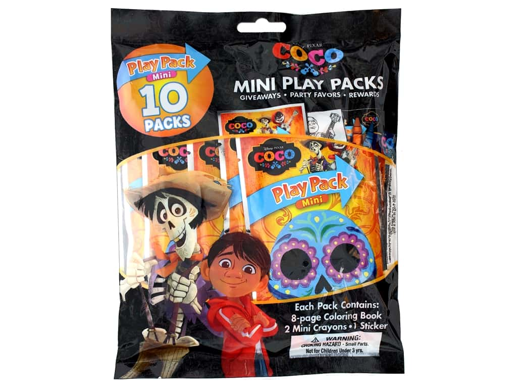 Bendon Coloring Book Play Pack 10 Pc Mini Coco 1