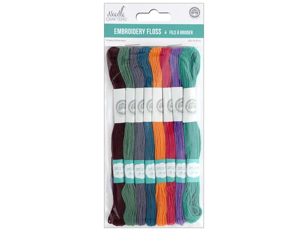Blues, Needlecrafters Cotton Embroidery Floss 8m