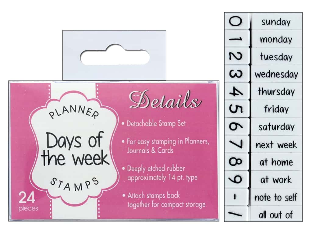 Contact Usa Clickable Stamp Set Planner Details Days Weeks 24 Pc