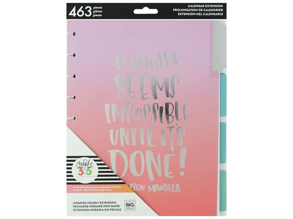 Uson Calendrier.Me My Big Ideas Happy Planner Extensions Classic Hourly 1