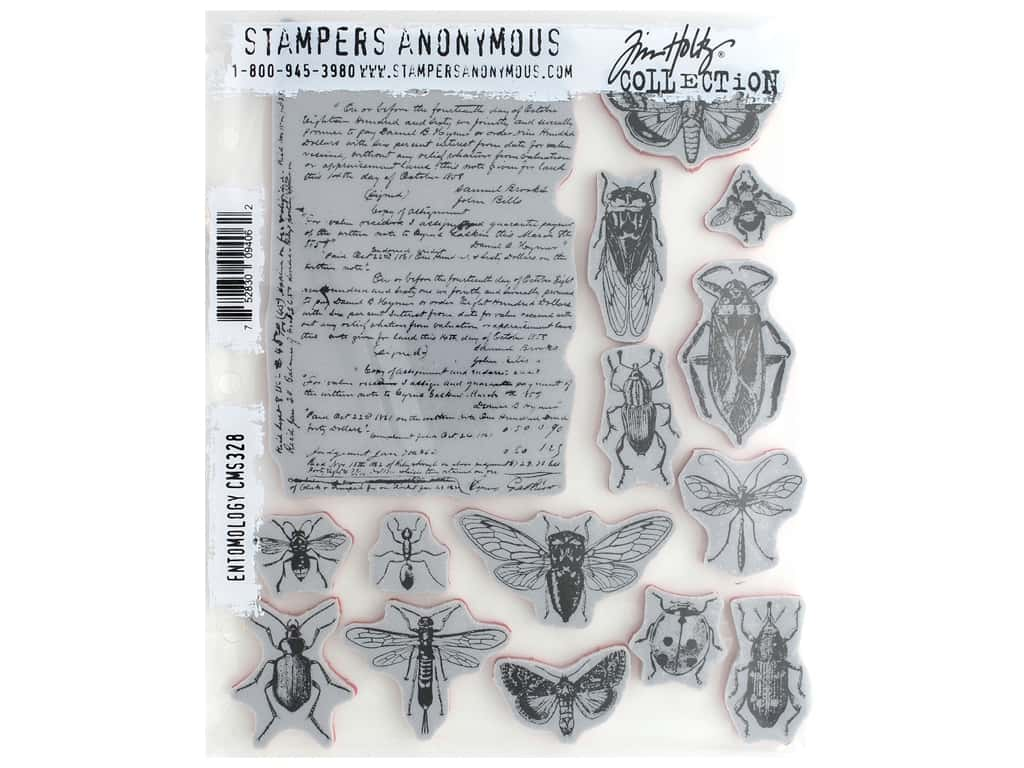 Tim Holtz Cling Mounted Stamps CMS328 Entomology