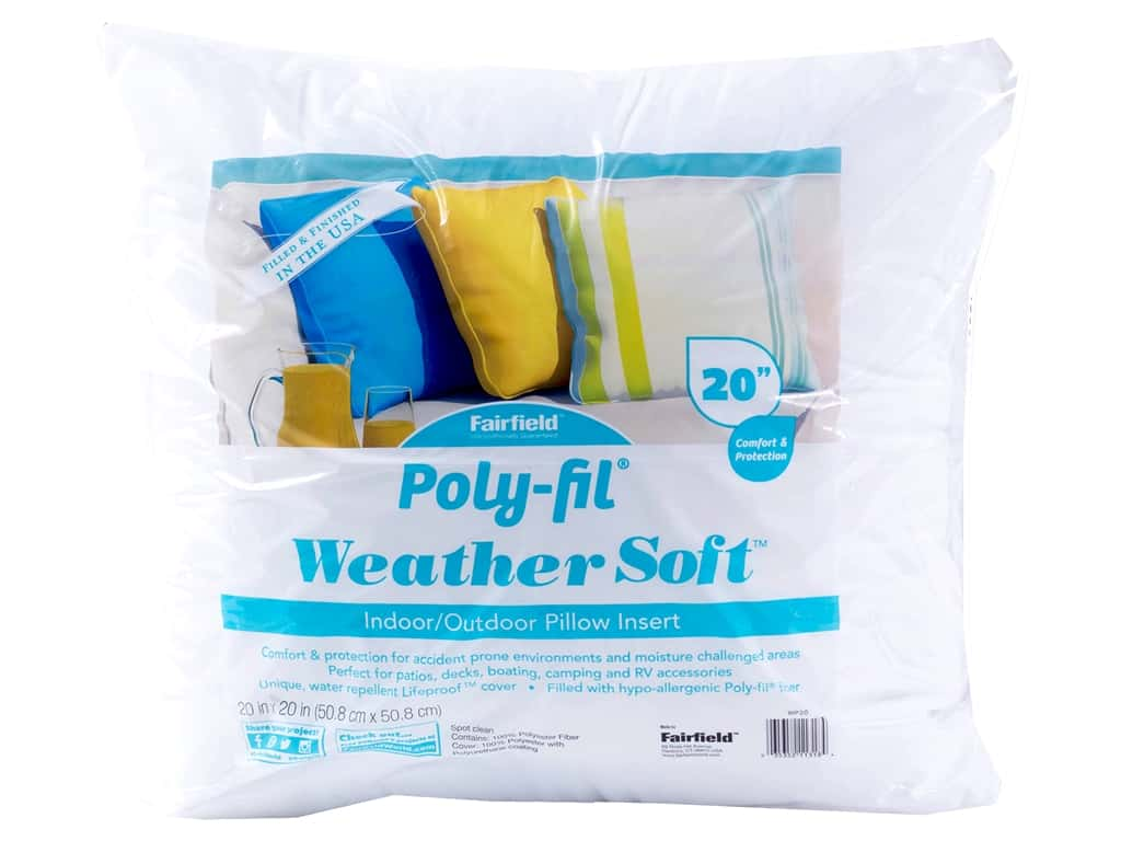 Fairfield Weather Soft Poly Fil Pillow Insert 20 Createforless