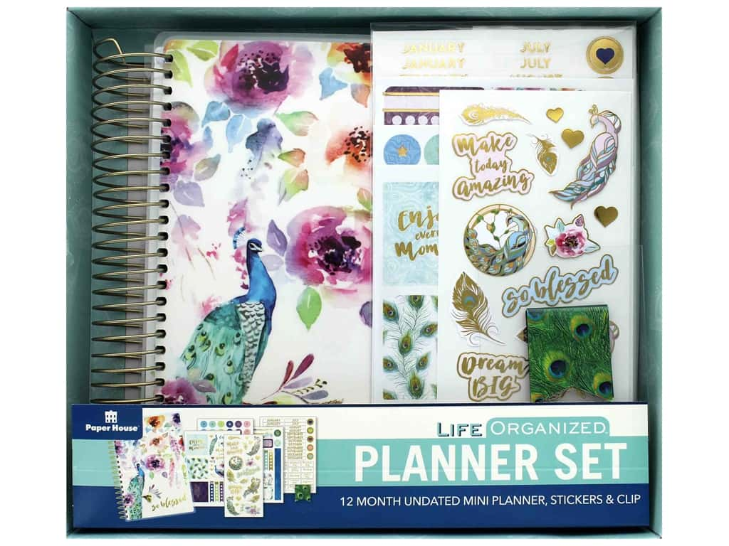 Paper House Collection Life Organized Planner Mini Set Peacock