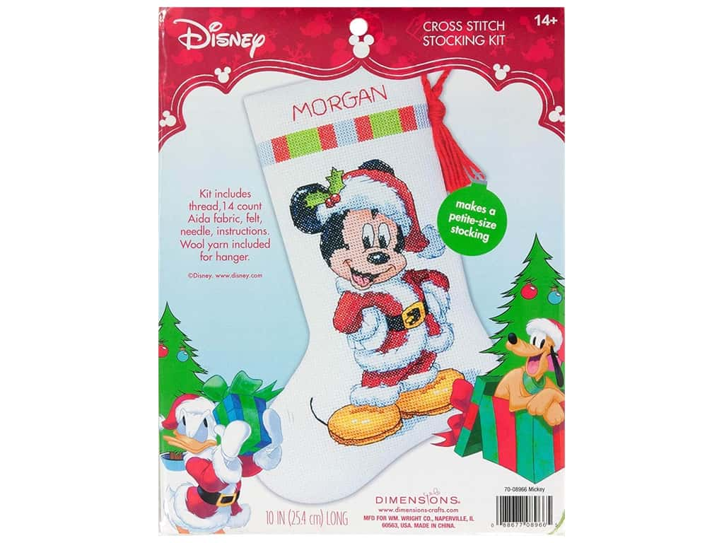 Dimensions Cross Stitch Kit Stocking Mickey