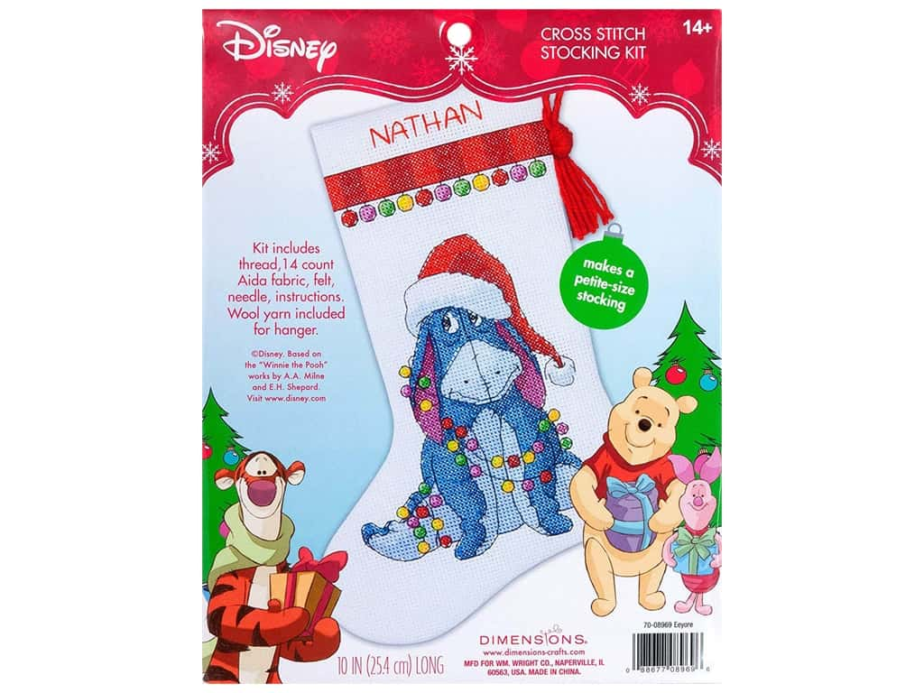 Dimensions Cross Stitch Kit Stocking Eeyore