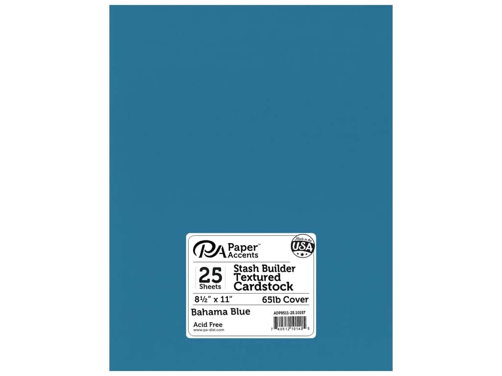 Paper Accents Cardstock 8 1 2 X 11 In 10157 Stash Builder Textured Bahama Blue 25 Pc 1