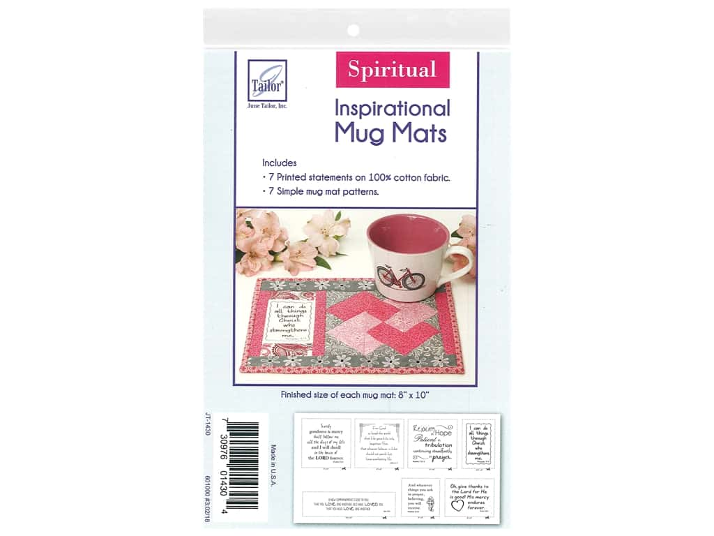 June Tailor Kit Inspirational Mug Mat Cotton Panel Spiritual 1