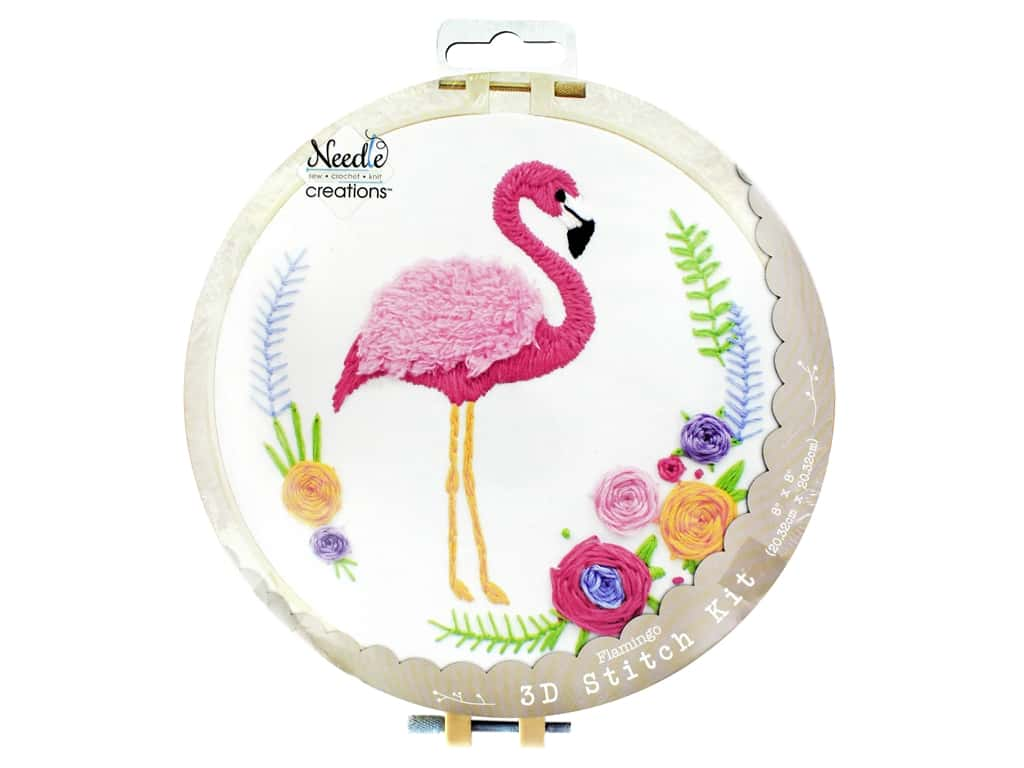 Fantastic Needle Creations Kit 3D Stitch Flamingo 8 1 Short Links Chair Design For Home Short Linksinfo