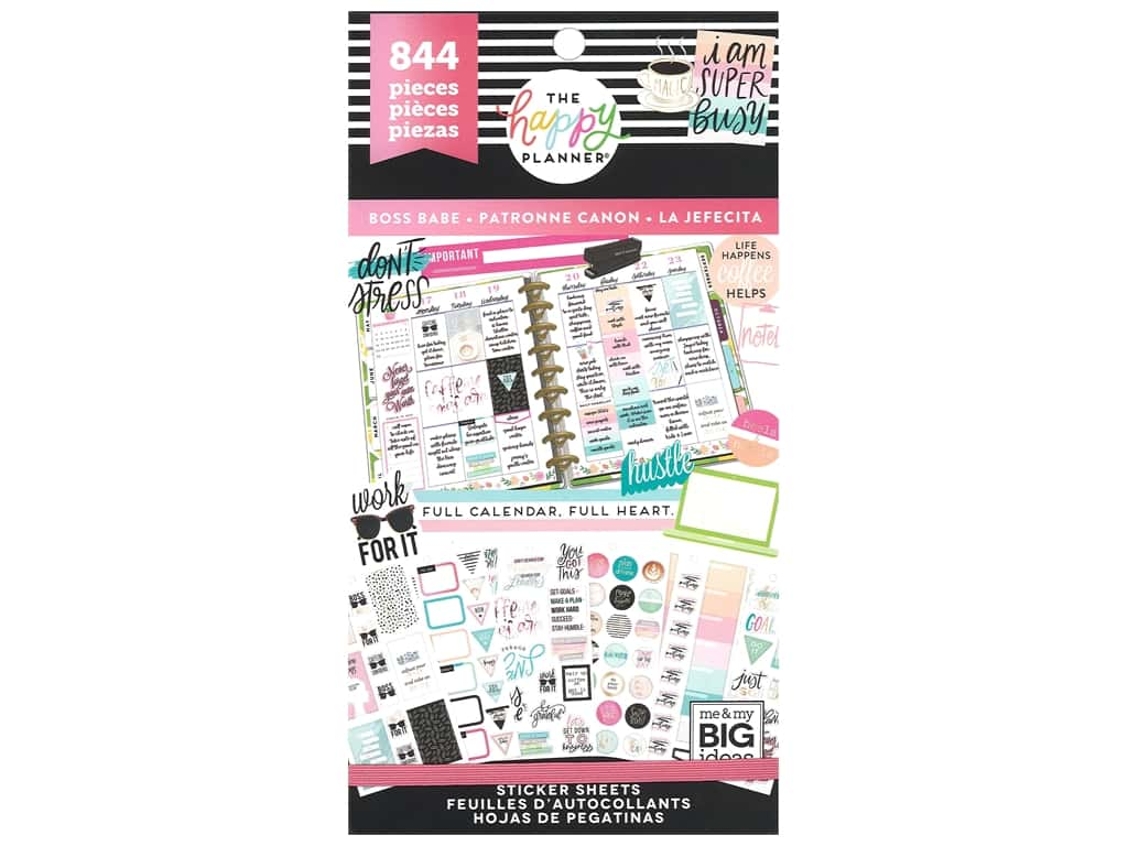 Me My Big Ideas Happy Planner Sticker Value Pack Boss Babe
