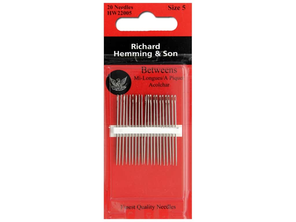 Size 3//9 Colonial Needle 20 Count Richard Hemming Sharps Assorted Needle