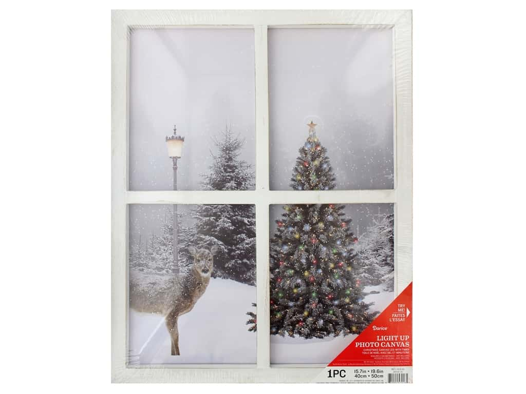 Darice Light Up Canvas 15 7 In X 19 6 In Christmas